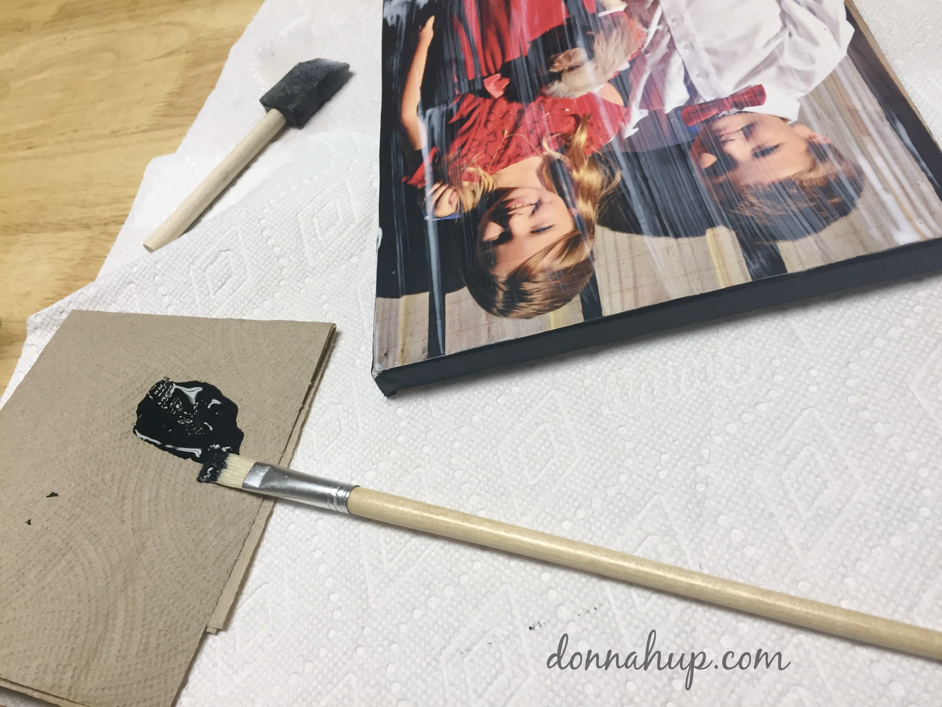 DIY Canvas Print - Make your own faux Canvas Print #CreateWithHP
