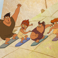 New ACTIVITIES BUTTON & Clips & Still: DreamWorks: Dawn of the Croods Season 2 Premieres Today