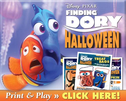 Finding Dory Halloween Activities