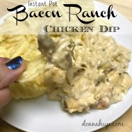 Instant Pot Bacon Ranch Chicken Dip