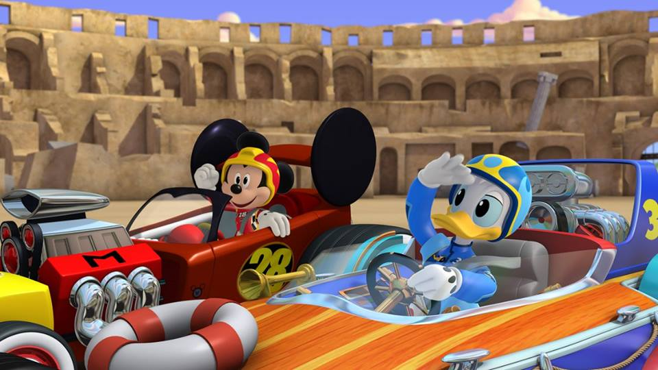 Get ready to hit the tracks with Mickey and the Roadster Racers