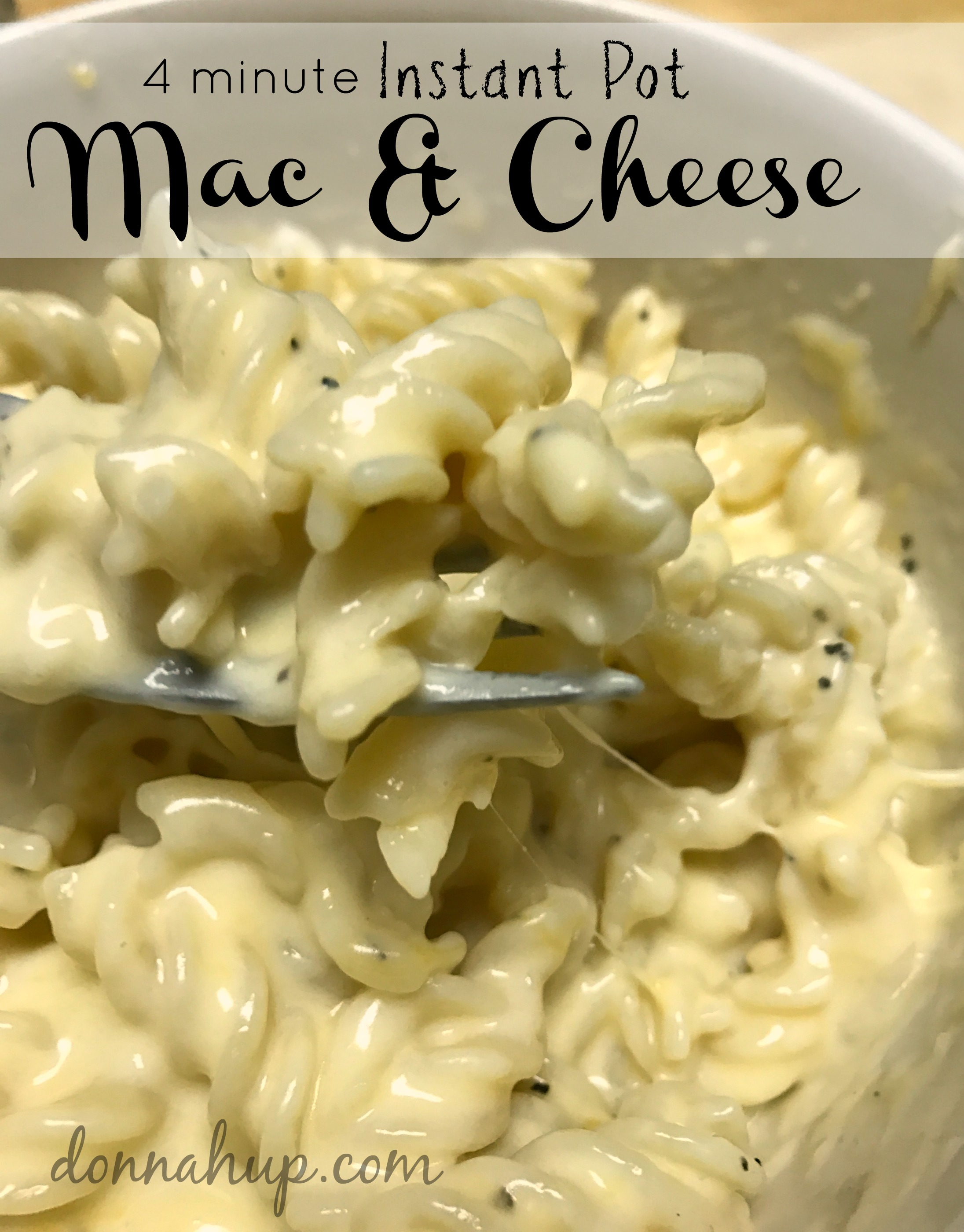 4 Minute Instant Pot Macaroni and Cheese