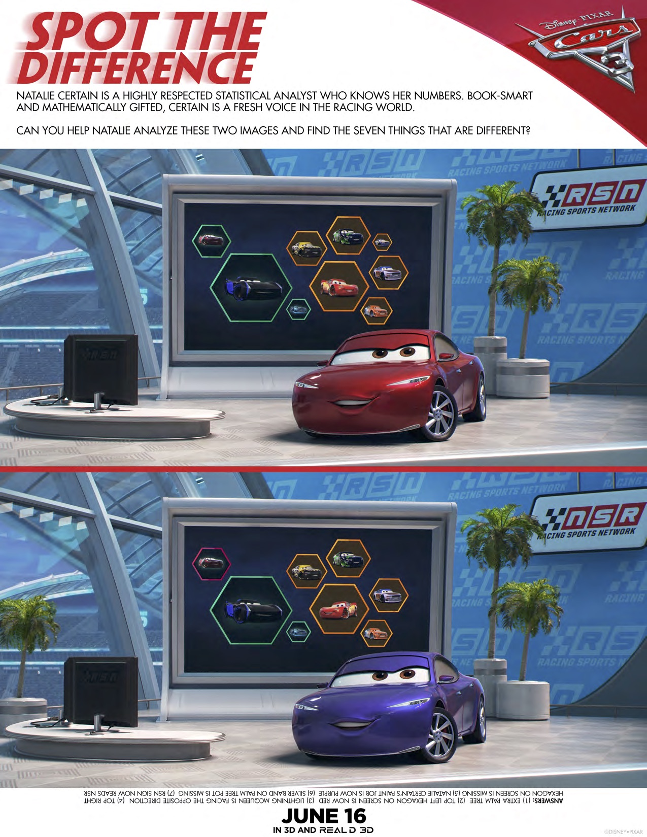 CARS 3 - Activity Sheets + New Trailer Now Available