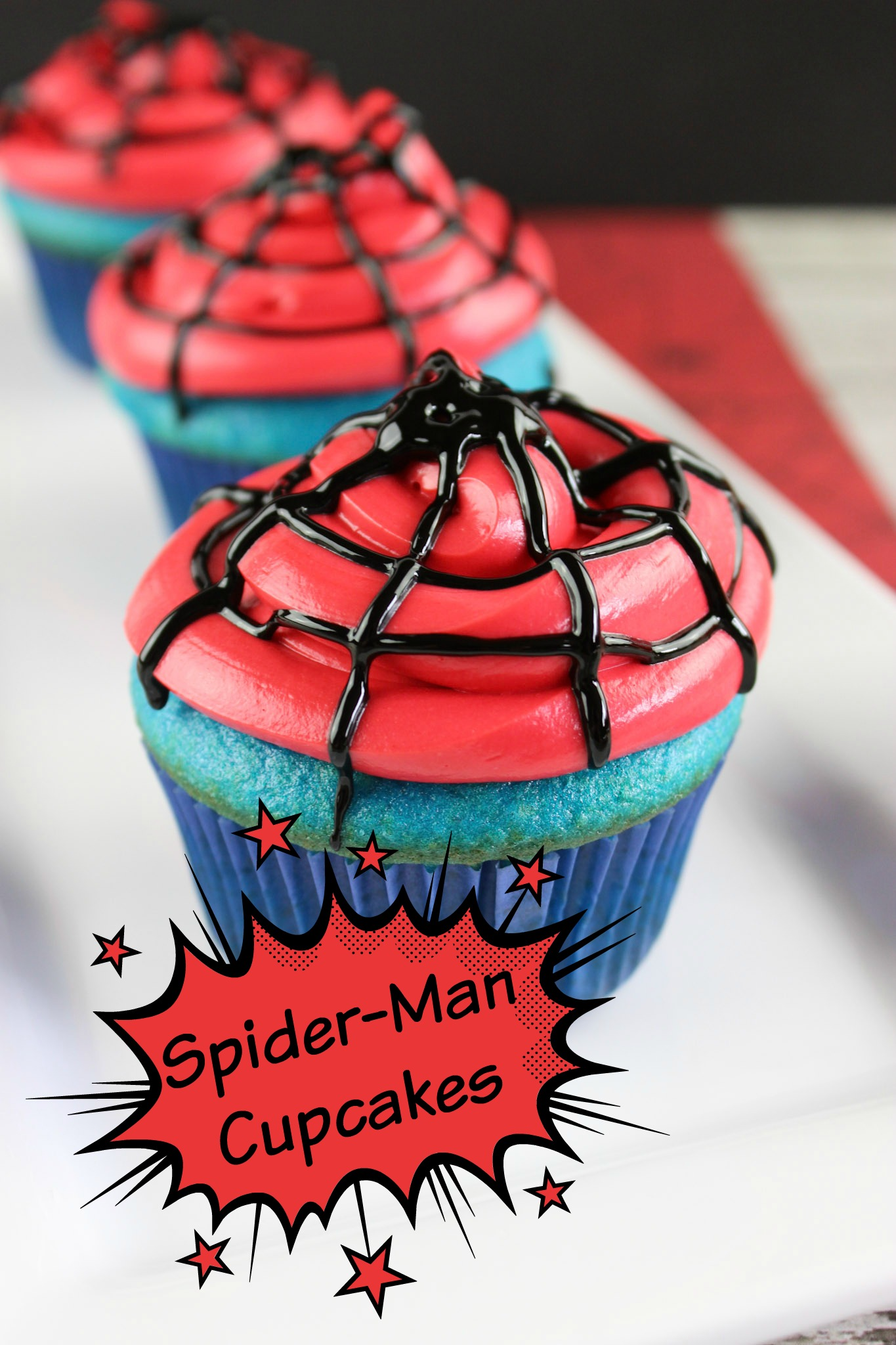 Easy To Make Spiderman Cake