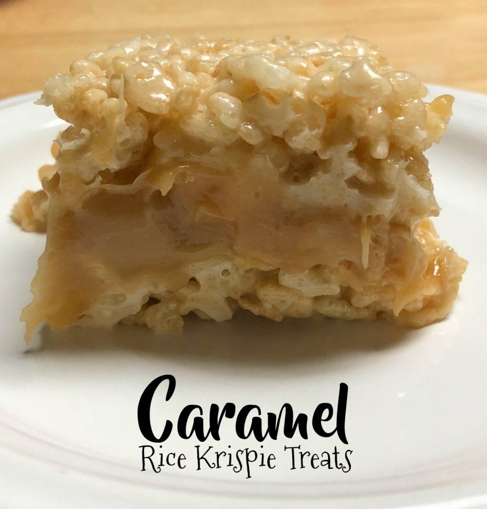 Caramel Rice Krispie Treats
