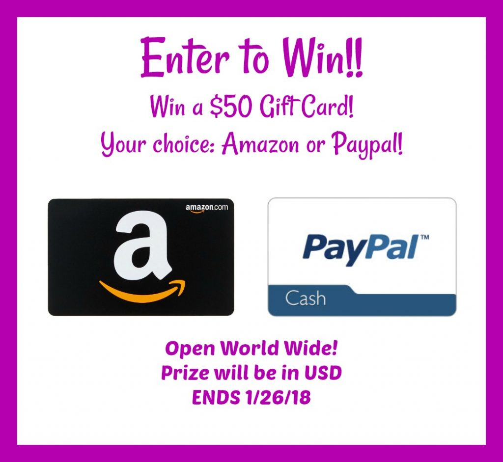 $50 Your Choice Giveaway