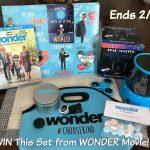 WONDER Movie Prize Set Giveaway