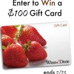 $100 Winn Dixie Gift Card Giveaway