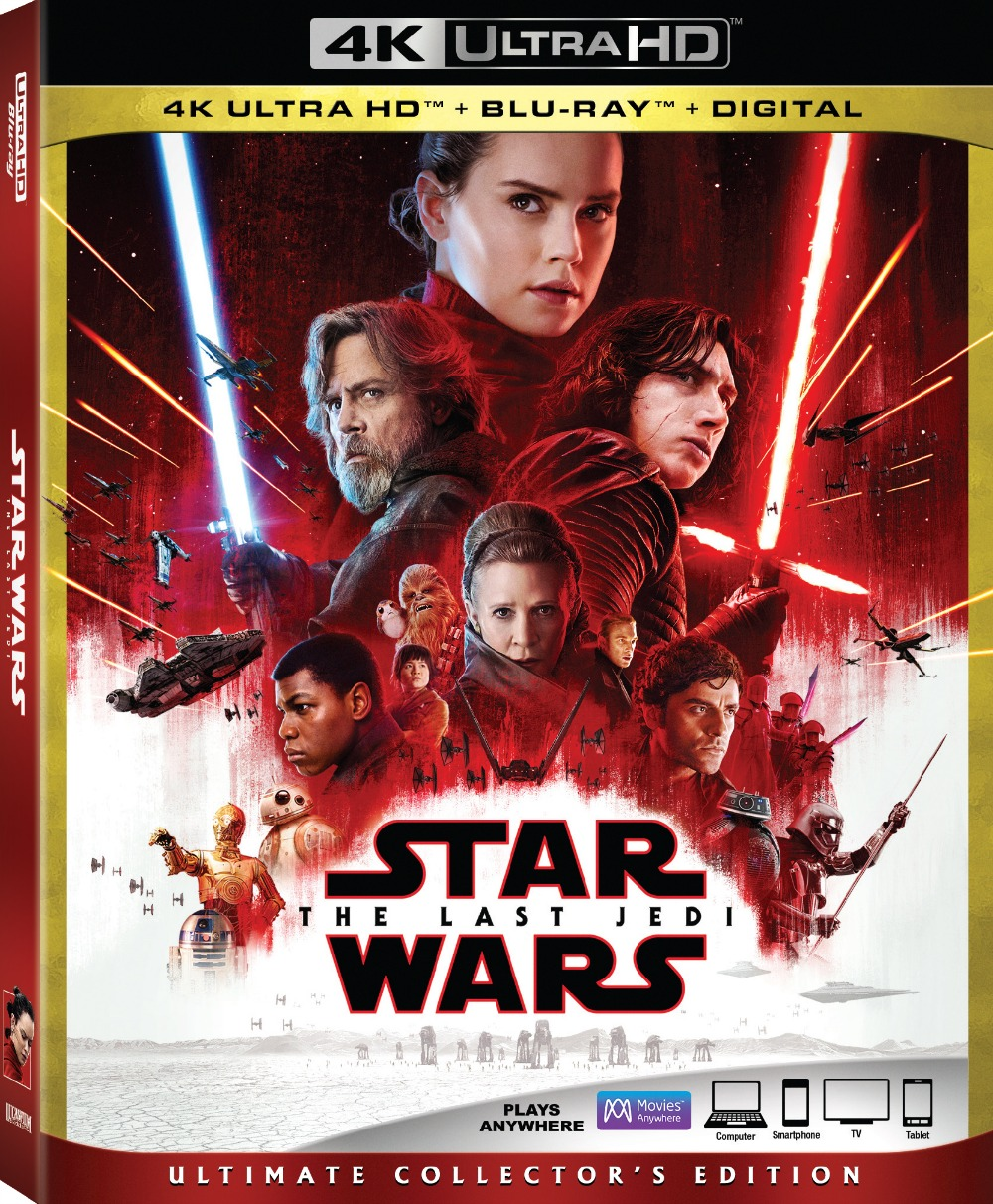 Star Wars: The Last Jedi on DVD and Blu-Ray Now