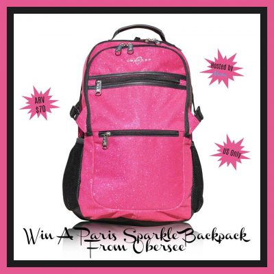 Paris Sparkle Backpack Giveaway