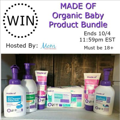 MADE OF Organic Baby Product Bundle Giveaway