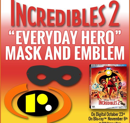 Incredibles 2 Everyday Hero Mask and Emblem