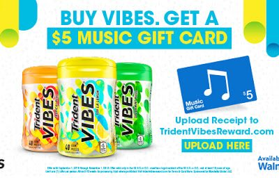 Buy Trident Vibes at Walmart and Earn a $5 iTunes Gift Card
