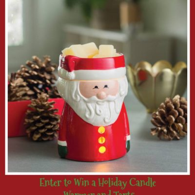 Festive Holiday Candle Warmer and Tarts
