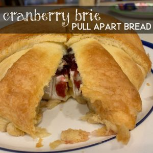 Cranberry Brie Pull Apart Bread