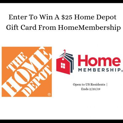 $25 Home Depot Gift Card Giveaway