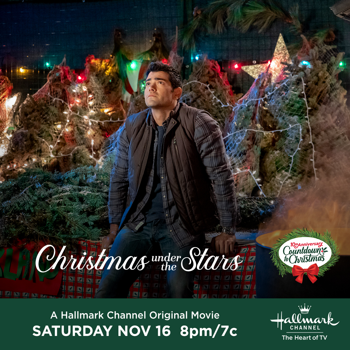 "Hallmark Channel's Premiere of ""Christmas Under the Stars"" on Saturday, Nov. 16th at 8pm/7c! #CountdowntoChristmas"