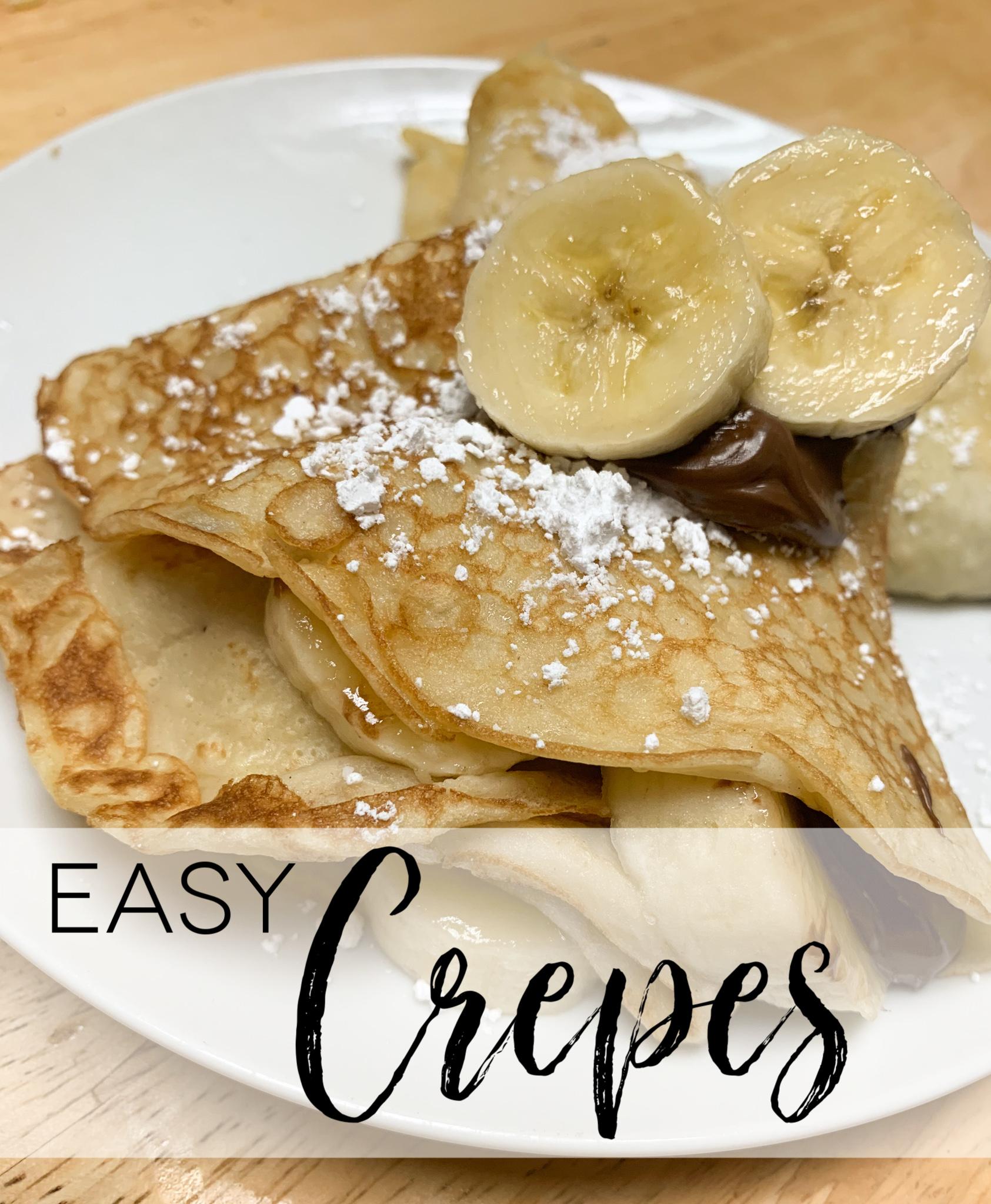 4 Ingredient Easy Crepes